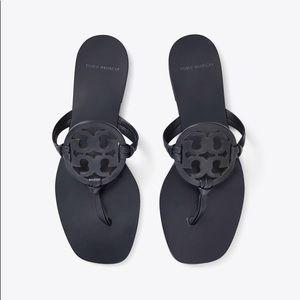Tory Burch Square Toe Miller Flip Flops - Navy